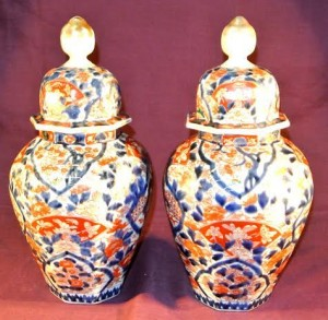 A pair of Imari jars at Woodwards (400-500).