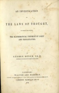 The first edition of George Boole's theory.