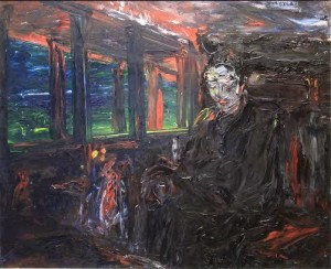Man in a train, Thinking by Jack Butler Yeats 9200,000-300,000).