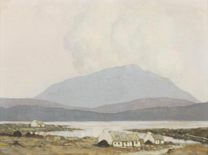 Cabins by a Lough, West of Ireland by Paul Henry