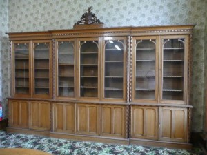This seven door Robert Strahan made bookcase was design for a Gothic Revival house in Tralee.