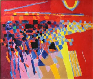 Colin Middleton - Red Landscape (15,000-20,000).