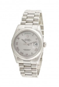 Gentleman's Oyster Perpetual Day-Date wristwatch by Rolex (27,000-32,000).