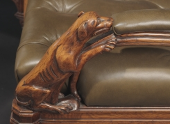 A Pair of Irish William IV Elm Open Armchairs (detail of armrest) at Hyde Park Antiques