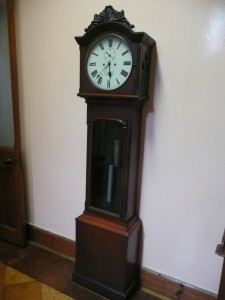 A c1850 long case clock by L.E. Ryan, Limerick (3,000-4,000).