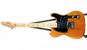 A Fender Affinity Telecaster electric guitar signed by Bruce Springsteen (800-1,200).