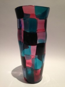GLASS PAST will exhibit this Venini Pezzato Vase, Fulvio Bianconi c1950