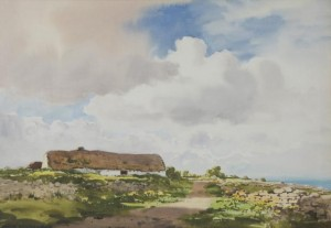 Frank Egginton RCA FIAL 1908 - 1990 A SUNNY EVENING, CO. MAYO, watercolour (800-1,200).