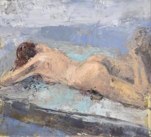 Donald Teskey RHA (b.1956) Reclining Female Nude (2003) (5,000-7,000).