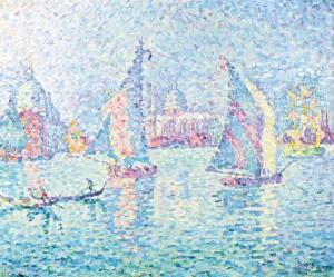 Paul Signac - Voile dans la brume. Canal de la Giudecca (£850,000-1.2 million).