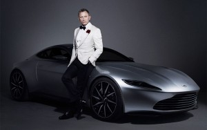 The Aston Martin DB10 with Daniel Craig.