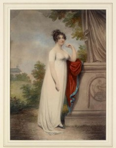 Adam Buck - Mary Anne Clarke by statue ©Private Collection.