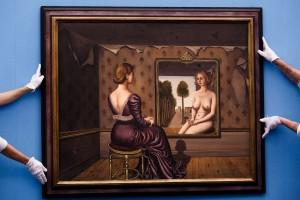 Paul Delvaux - Le Miroir - sold for £7.3 million, an auction record.