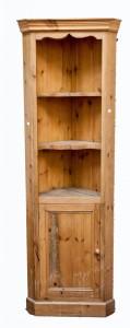 A 19th century walnut Continental corner cupboard (100-200)
