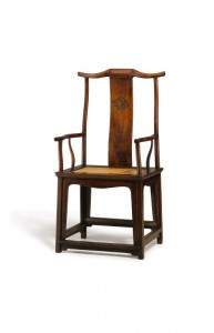 High yoke-back armchair