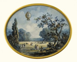 The flight en montgolfiere of Pilatre do Rozier and the Marquis d'Arlandes over Paris November 1783 (£12,000-18,000).