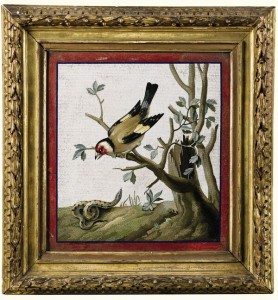 One of a pair of micro mosaics by Giacomo Raffaelli (1753-1856) from the Hamilton Palace Collection (£50,000-100,000).