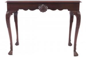 An Irish 18th century mahogany console table (4,000-6,000).