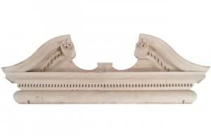 Monumental Irish carved overdoor c1776 (5,000-7,500).
