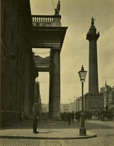 Portico of the GPO. May 1916
