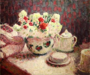 Nature Morte, Flowers on a table by Roderic O'Conor