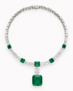 An emerald and diamond necklace by Cartier ($2.5-3.5 million)