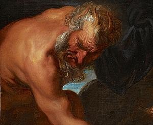 Sir Anthony van Dyck (1599-1641)  Jupiter as a satyr (A fragment cut from Jupiter and Antiope)