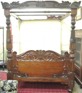 A Victorian four poster bed (2,000-3,000).