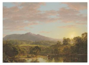 Frederic Edwin Church (1826-1900) A New England Lake courtesy Christie's Images Ltd., 2016