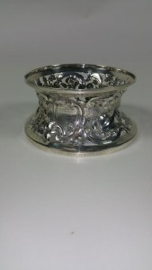 The silver dish ring by Egans of Cork given to Terence MacSwiney as a wedding present in 1917.