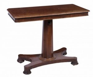 A William IV reading table (100-200).