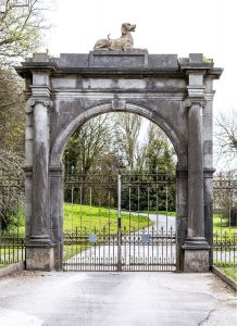 The landmark entrance to Lotabeg from the Lower Road in Cork city.