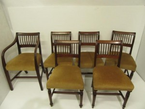 A set of six Georgian Cork 9-bar chairs.