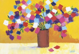 Kenneth Webb - Sweet Pea, profusion of colour (2,800-3,200)