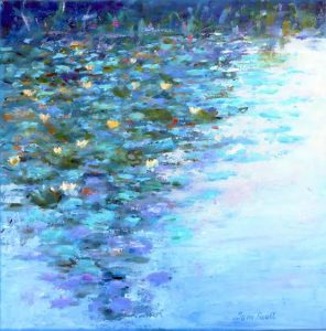 WATER LILLIES BY TOM SCOTT FROM THE EXHIBITION