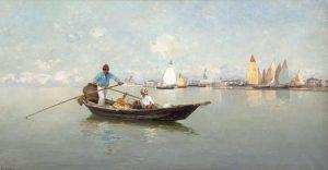 PIETRO FRAGIACOMO (1856-1922) On the Lagoon, Venice (4,000-6,000)