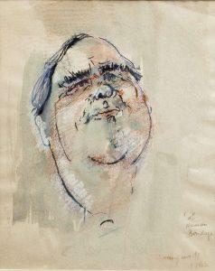 George Campbell RHA (1917-1979) Robert Morley - Actor (250-350)