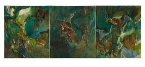 Barrie Cooke, Forest Triptych 1976 (20,000-30,000)