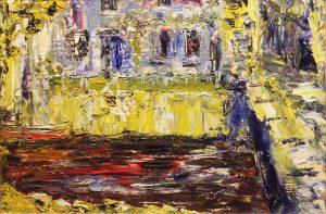 Jack Butler Yeats - A Riverside Inn (1946) (70,000-90,000)