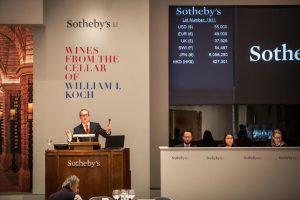 The wine sale in progress.