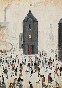 Laurence Stephen Lowry, The Black Church, 1964 (£120,000-180,000)