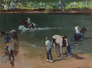 Cecil Maguire RHA RUA (b.1930) The Morning of Horse Fair (2003) (4,000-6,000)