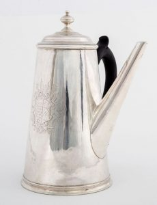 An Irish George I silver coffee pot by John Hamilton c1720