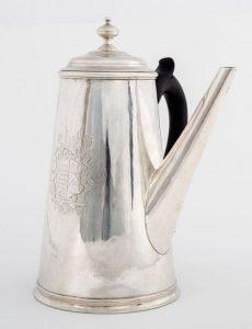 An Irish George I silver coffee pot by John Hamilton c1720