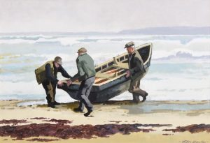 John Skelton Snr (1923-2009) Launching the Currach (800-1,200)