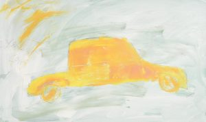 Basil Blackshaw HRHA RUA (1932-2016) Yellow Car oil on board (6,000-8,000)