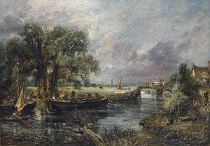 John Constable, R.A. (1776-1837) View on the River Stour near Dedham, full-scale sketch circa 1821-22 oil on canvas