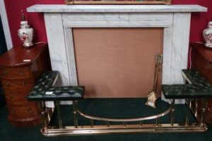 A marble fireplace (3,000-5,000)