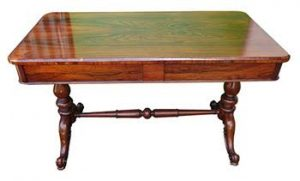 A Victorian rosewood library table (1,600-2,000)