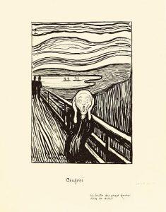 EDVARD MUNCH 1863-1944 THE SCREAM Lithograph, 1895